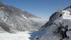 Śnieżna góra, porcelana Fotografia Royalty Free