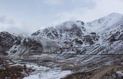Śnieżna góra w Leh Ladakh Zdjęcia Stock
