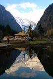 Śnieżna górska wioska, Qubeng wioska, Yunnan, Chiny Fotografia Royalty Free