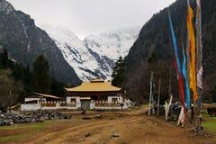 Śnieżna górska wioska, Qubeng wioska, Yunnan, Chiny Obrazy Royalty Free