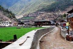 Śnieżna górska wioska, Qubeng wioska, Yunnan, Chiny Obrazy Stock