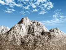 śnieżna góry scena Zdjęcia Stock