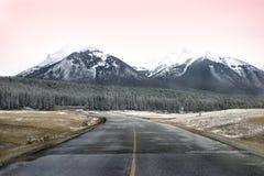 Śnieżna Halna Droga Zdjęcie Stock