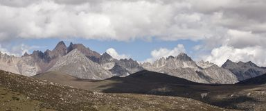 Śnieżna halna sceneria na plateau 05 Obrazy Stock