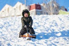 Śnieżna hulajnoga fotografia royalty free