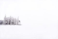 Śnieżna i odmrożona ambona w środkowych równinach Zdjęcia Stock