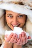śnieżna kobieta Zdjęcie Royalty Free