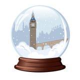 Śnieżna kula ziemska Big Ben Zdjęcie Stock