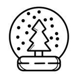 Śnieżna kuli ziemskiej ikona royalty ilustracja