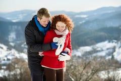 Śnieżna miłość Fotografia Royalty Free
