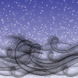 Śnieżna miecielica ilustracji