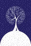 śnieżna opadów śniegu drzew zima ilustracja wektor