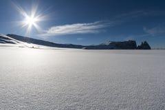 Śnieżna panorama 3 Zdjęcia Royalty Free