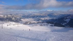 Śnieżna panorama Fotografia Royalty Free