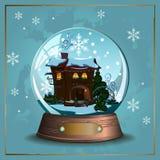 Śnieżna piłka ilustracji