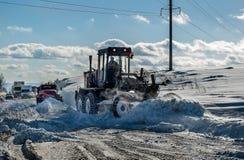Śnieżna równiarka Zdjęcia Stock