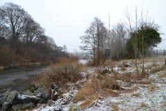 Śnieżna rzeka Zdjęcia Royalty Free