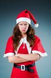 Śnieżna Santa dziewczyna w bożych narodzeniach Fotografia Stock