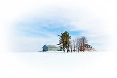 Śnieżna scena Zdjęcie Royalty Free