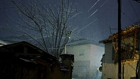 Śnieżna scena w starym miasteczku zdjęcie wideo