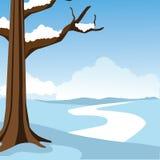 Śnieżna scena z kopii przestrzenią Fotografia Stock