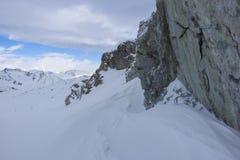 Śnieżna skała, Passo Tonale, Włochy zdjęcie stock