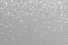 Śnieżna spada zima płatków śniegu bożych narodzeń nowego roku projekta elementów szablonu wektoru ilustracja royalty ilustracja