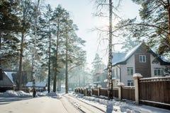 Śnieżna ulica Obrazy Royalty Free