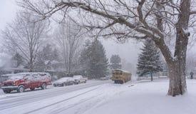 Śnieżna ulica zdjęcia royalty free