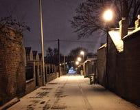 Śnieżna uliczna scena fotografia stock