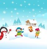Śnieżna walka Zdjęcie Royalty Free