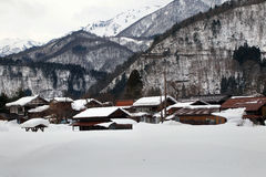 Śnieżna wioska Zdjęcia Royalty Free