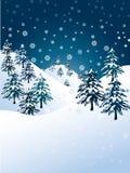śnieżna zima Obrazy Royalty Free