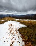 Śnieżne burzowe góry Obrazy Royalty Free