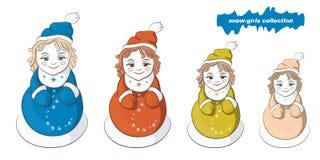 Śnieżne dziewczyny gniazdować lale Fotografia Royalty Free
