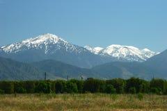 Śnieżne góry Obrazy Royalty Free