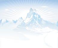 Śnieżne góry ilustracja wektor