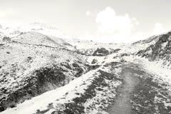 Śnieżne góry Fotografia Royalty Free