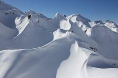 Śnieżne góry Fotografia Stock