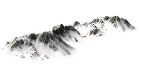 Śnieżne góry na białym tle Fotografia Royalty Free