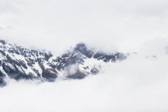 Śnieżne góry w Alps Zdjęcia Stock
