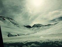 Śnieżne góry w Andorra Obrazy Stock
