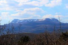 Śnieżne góry w Crimea Fotografia Royalty Free