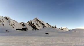 Śnieżne góry w Fagarasi, Rumunia Obrazy Royalty Free