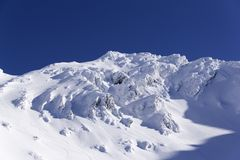Śnieżne góry w Fagarasi, Rumunia Fotografia Stock