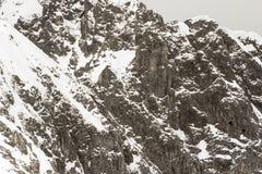 Śnieżne góry w Szwajcarskich Alps Fotografia Stock
