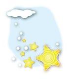śnieżne gwiazdy Zdjęcia Royalty Free
