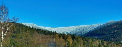śnieżne krajobrazowe góry Fotografia Royalty Free