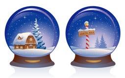 Śnieżne kule ziemskie royalty ilustracja