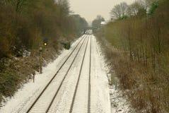 Śnieżne linie kolejowe Obrazy Stock